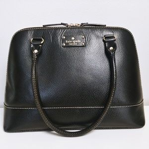 👜 Kate Spade Black Classic Wellesly Large Satchel